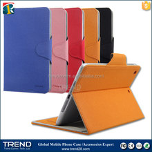 2016 wholesale kickstand folio leather wallet case for ipad mini
