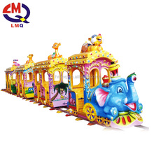 Christmas Kiddie Amusement train rides games Outdoor Mini Track Train