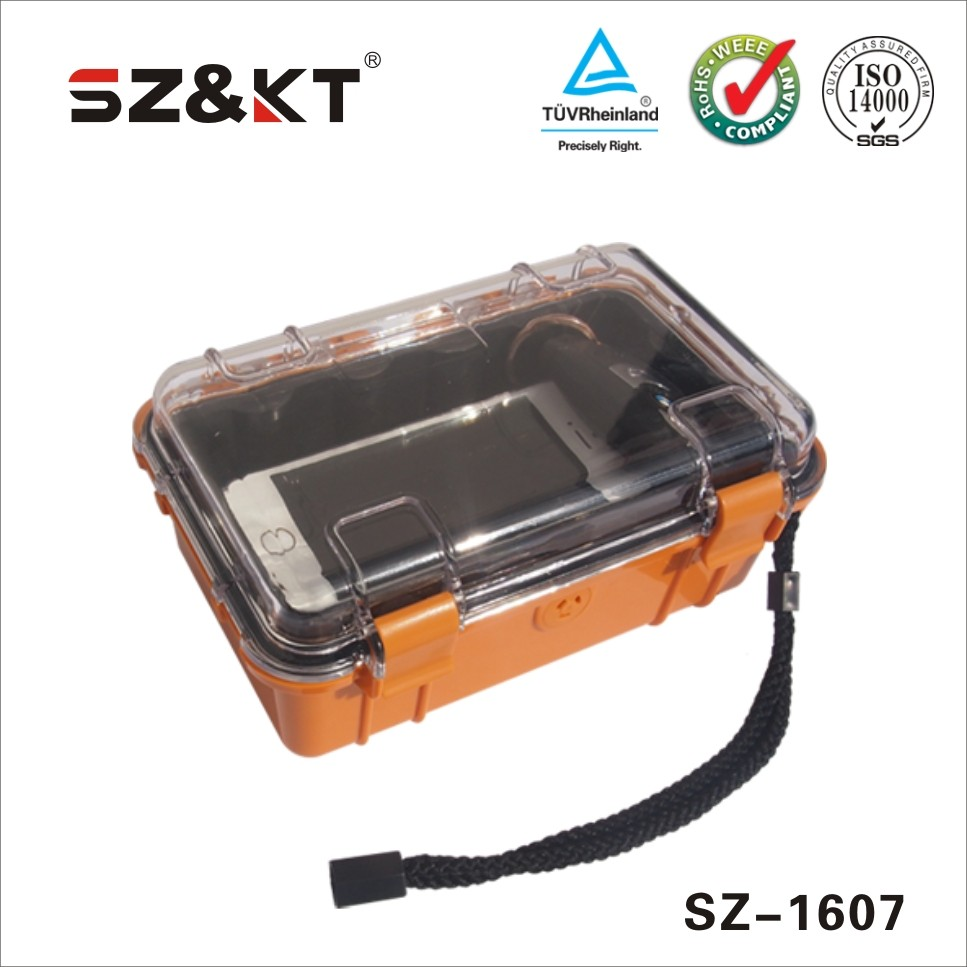 New arrival SZ-1607 rolling plastic tool case safety transport protective case