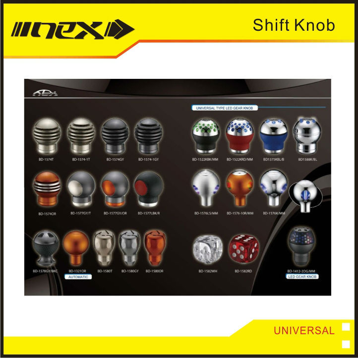 Auto Universal Shift Lever Knob Aluminum Gear Shift Knobs
