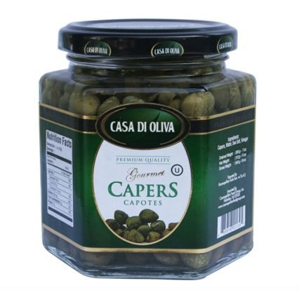 Capers in brine and vinegar
