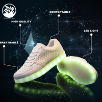 lace up Flashing Sneakers led running Sport luminous Shoes