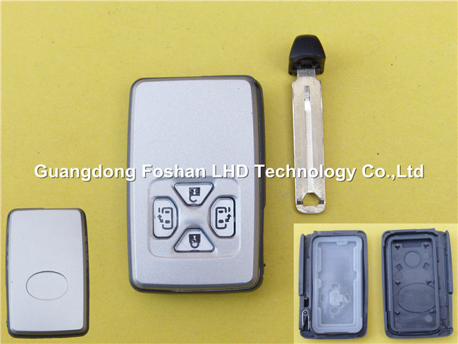 Excellent Quality flip key smart for Toyota 4 button smart key remote cover shell blank case