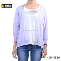 Loose Version Lilac Korean Wool Sweater, Stylish Chunky Wool Sweater