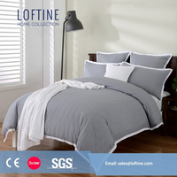 2015 NEW cotton seersucker bed duvet cover set