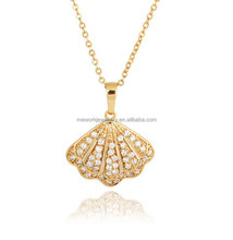 Fashion gold conch case shell case design necklace 18K shell necklace