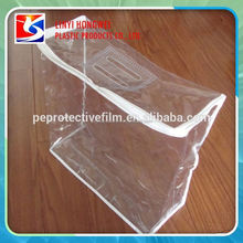 Clear Vinyl Pvc Zipper Blanket Bag