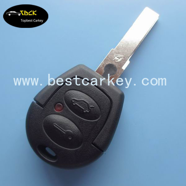 Topbest Gol car remote key 2 buttons remote key 433 mhz with ID48 can chip