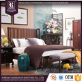 Antique Style Solid Wood Furniture queen bedroom set For Home Malaysia