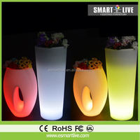 led glowing vase/ led illuminated planter/ outdoor led flower pot