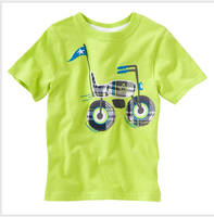children 2016 new style high quality green unique custom t-shirt softextile