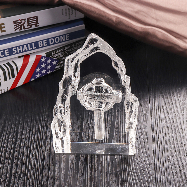Customized Blank Glass Crystal iceberg Engraving laser awards trophies plaque