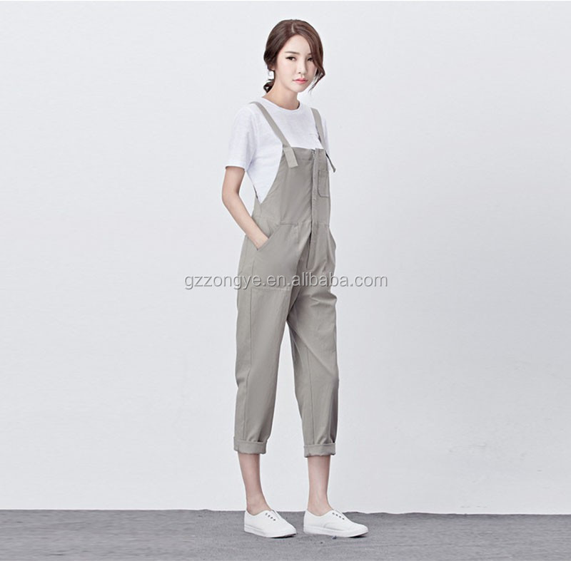 2016 Causal soft cotton girls dungarees