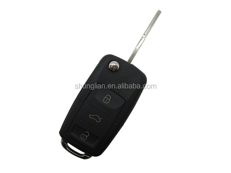 Top quality vw car key for vw 3 button flip remote key shell for vw key blank