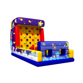 70915018 Funny combo design Inflatable bouncer with climbing wall