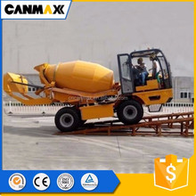 New style mobile cement concrete mixer truck with self loading for sale