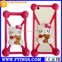 5.5 inch wallet phone case animal silicone phone case anti gravity phone case