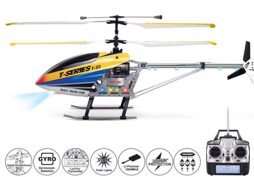 professional 3.5CH rc planewith LCD controller remote control gyro helicopter parts