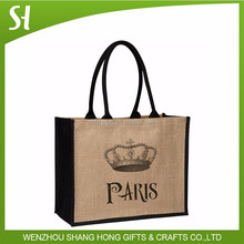 jute tote bags with leather handles jute bag manufacturer laminated