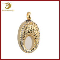 Meaningful Stainless Steel Gold Plated Wholesale Cremation Ashes Jewelry for Pendants