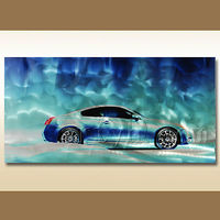 Cool car lacquer metal painting decoration