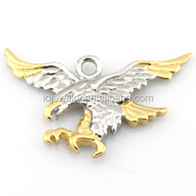 18k gold plated stainless steel jewelry eagle pendant