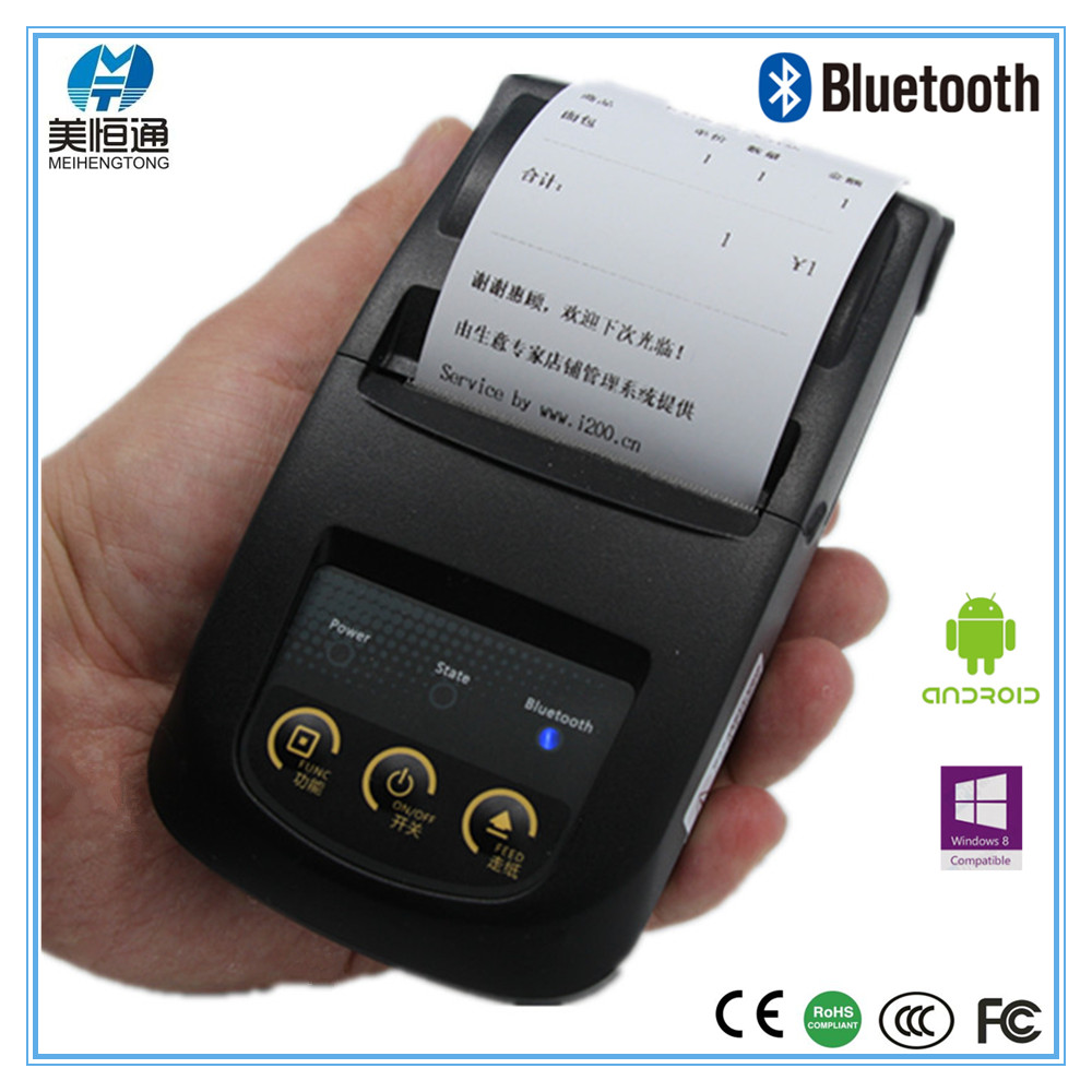 58mm Pocket Handheld Bluetooth Thermal Printer Support Android Phone Portable Printer MHT-5802