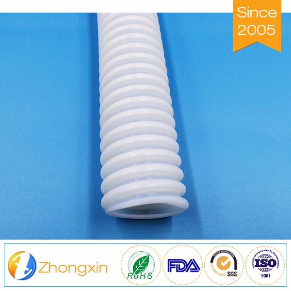 plus 275 degrees Transparent Convoluted PTFE Hose