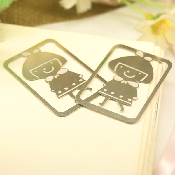 Custom stationery gift little boy and gire style bookmark