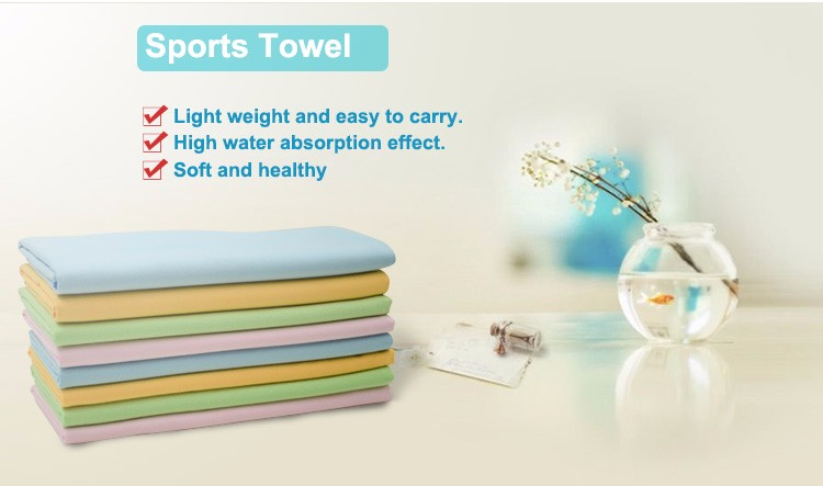 Customized Color Light and Soft Microfiber Sport Towel Wholesale
