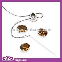 Mounted Smoked Topaz Oval Crystal in Claw Settings