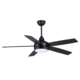 52 inch indoor ceiling fan with LED light kit and remote control big size wood blades AC or DC motor option