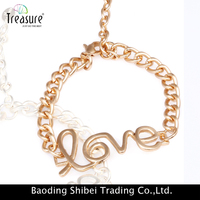 2015 fashion new arrival hot selling alloy girls' new design bracelet eternal infinity love bracelet