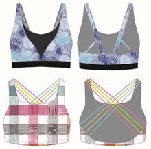 Best Selling Yoga Gym Lady Padded Bra Sublimation Printed Sport Tank Tops Quick Dry Workout Active Wear