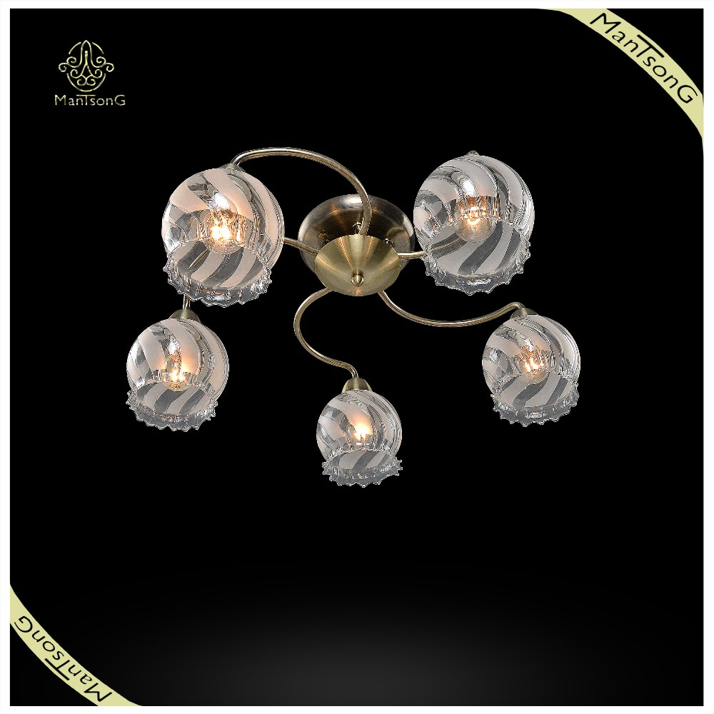 Indoor Home Lighting Cheap Glass Shades Ceiling Light, Decorative Ceiling Light Fixture