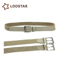 Fabric Male Braided Rope Strap Leather Woven Stretch Elastic Trouser Belt Fabric Weave Belts for Mens