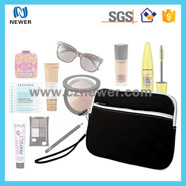 insulated dustproof neoprene cosmetic pouch for beauty