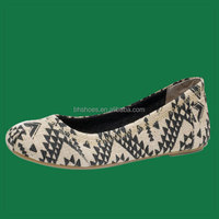 BHS095233 Fancy cheap canvas ladies flat shoes