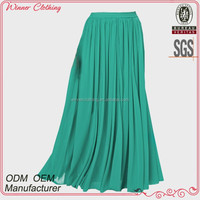 OEM/ODM manufacturer Girls/Ladies Fashion Apparel Cheap Chiffon Long Skirt For Summer