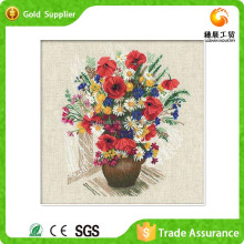 Wall Art Decoration With Resin Diamond Mosaic Flower Oil Painting Pictures