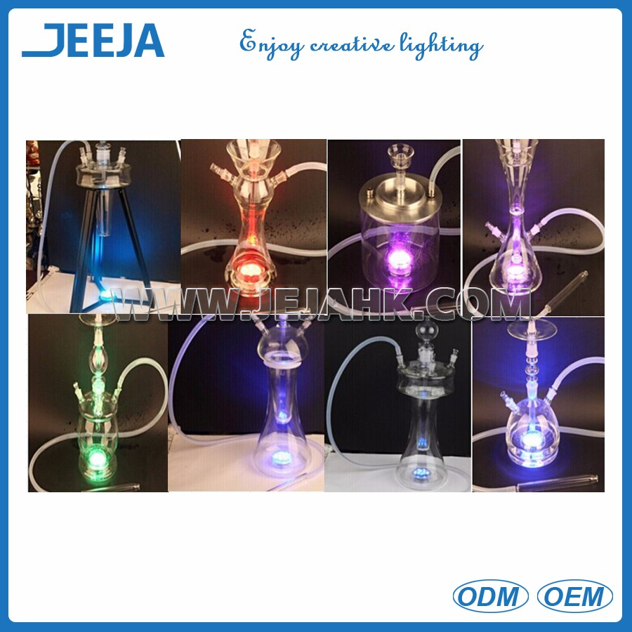 Wholesale handmade glass shisha hookah with led light