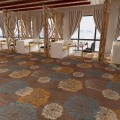 Stocked High quality dining room carpet with modern design,ink print carpet