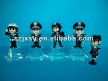Resin policeman statue soldier figurines