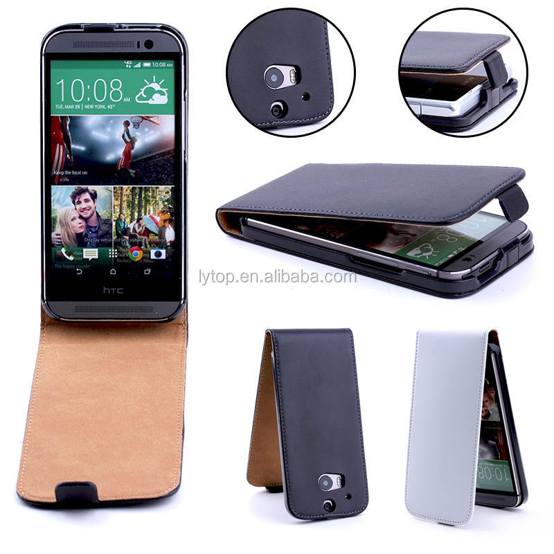 2015 New product for HTC ONE M8 case skin leather flip smart case cover for htc one m8