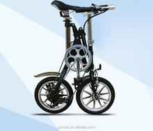 Adult bicycle alloy bike frame mini folding bike with Kenda 14*1.76 tire in black color