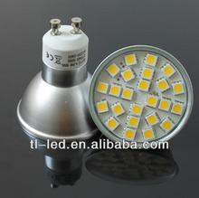 2.5W LED GU10 lamp with glass cover SMD 5050 240-280lumen 220-240VAC