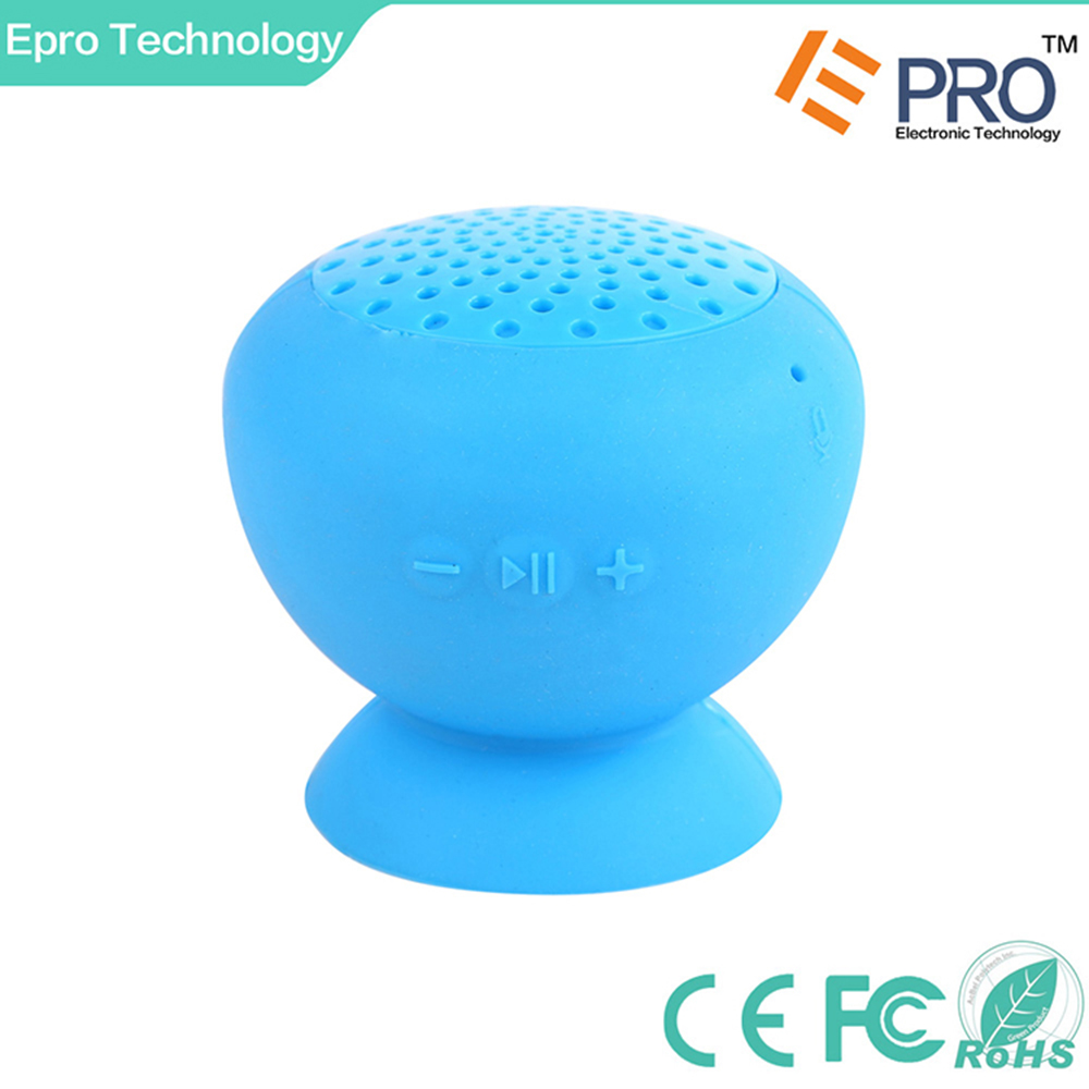Cheapest mini portable waterproof wireless mushroom shower bluetooth speaker with suction cup