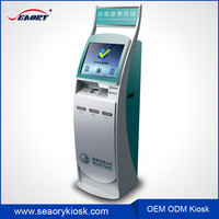 TFT type cash deposit machine/bill payment vending kiosk/17 inch touch screen kiosk