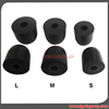 4mm Connector Hole Three Sizes Memory Foam Earphone Tips Slow Rebound Foam Ear Tips