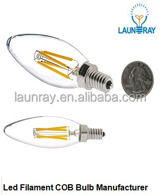 2016 Hot <strong>LED</strong> Filament Bub E12 E14 B22 E27 Candle Bulb 6W 4W 2W with UL listed <strong>leds</strong>